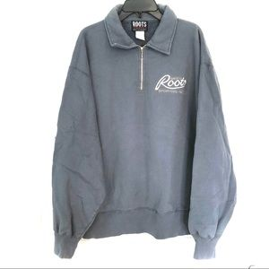 ROOTS Canada Athletics Blue-Grey Sweatshirt
